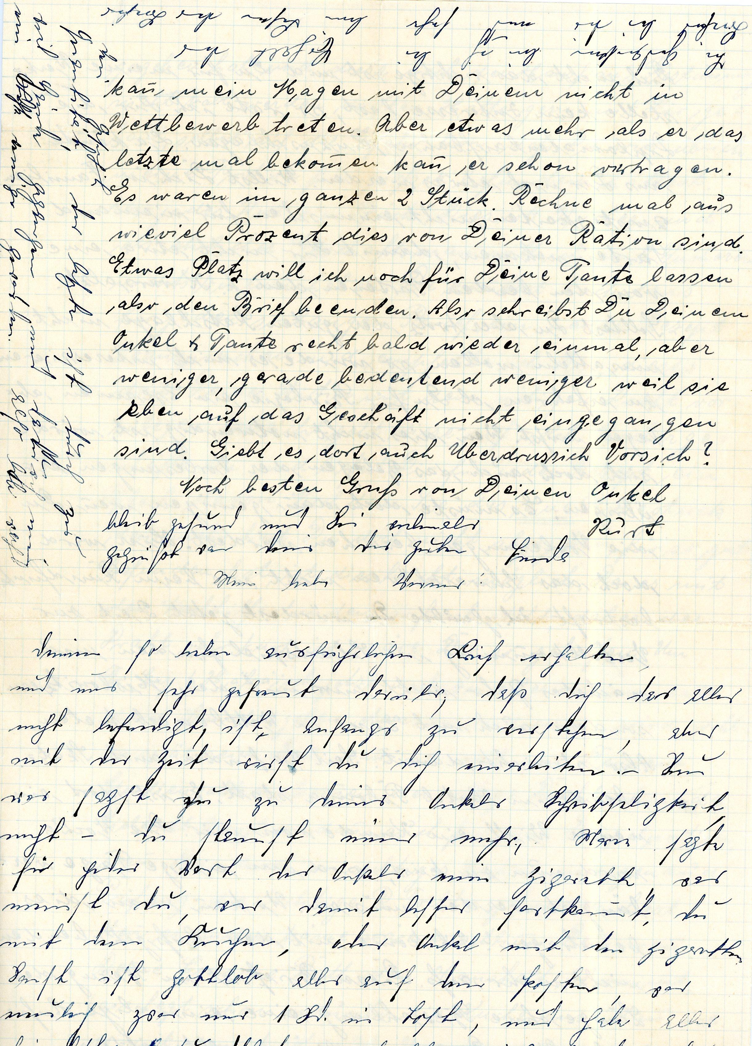 kurt long letter page four top half