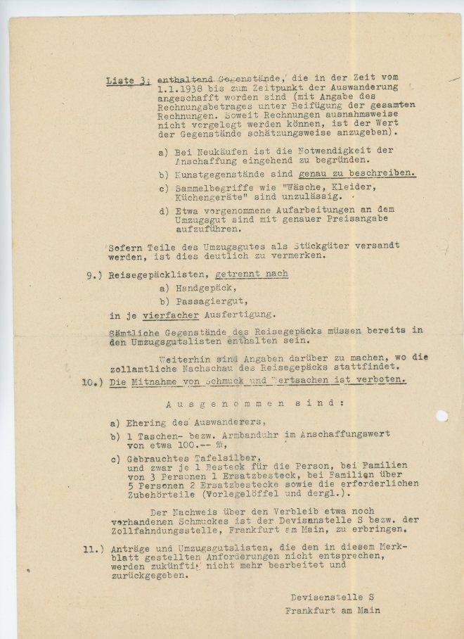 Merkblatt, page two