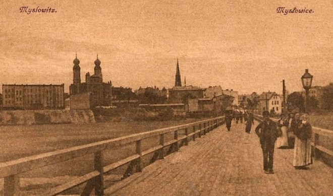 Myslowice bridge, circa 1910. Source: fotopolska.eu