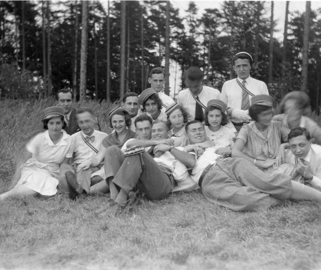 A day out at Zobten with fellow students - 26 July 1931