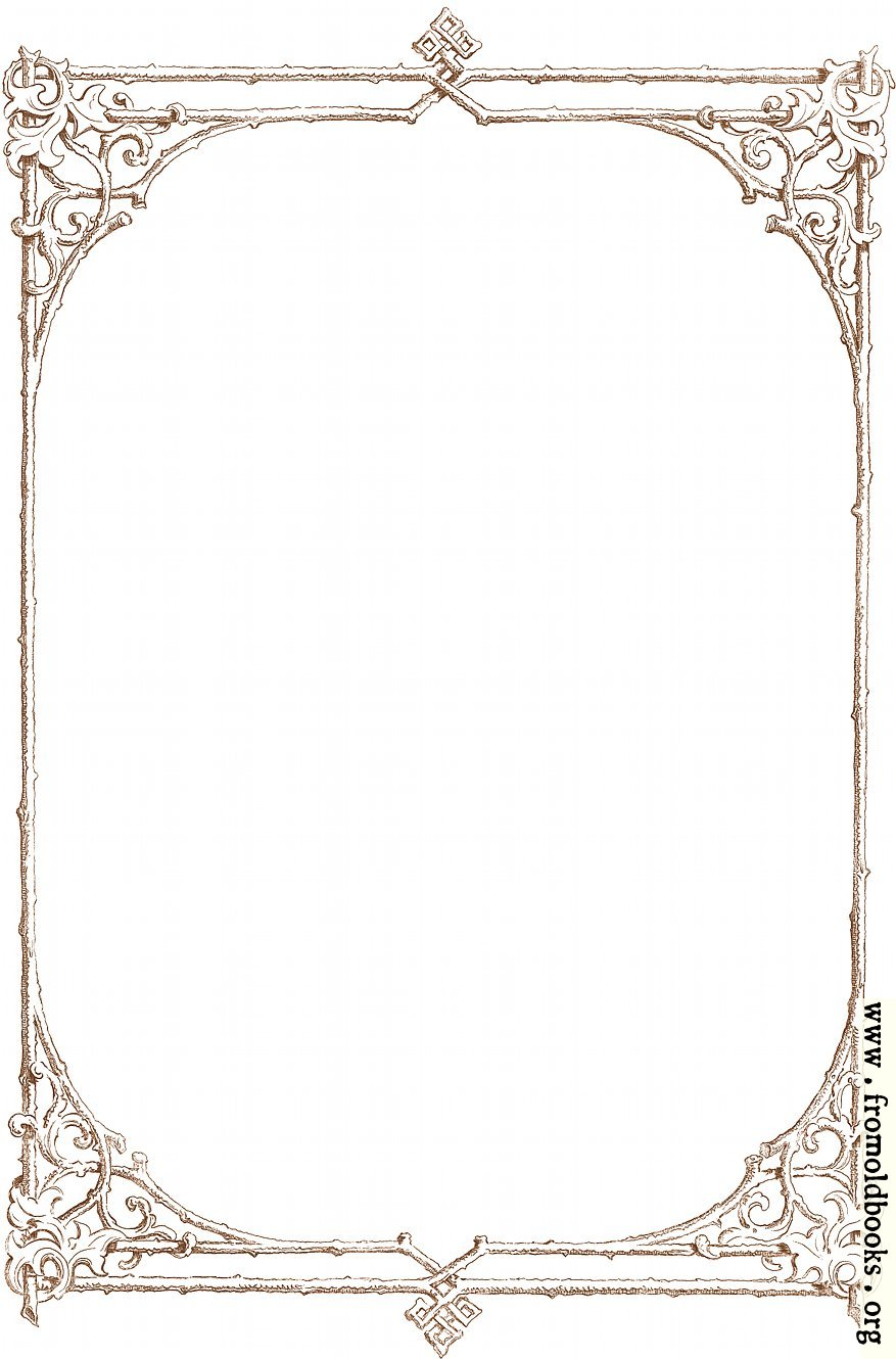 free clip art victorian border of brown twigs details