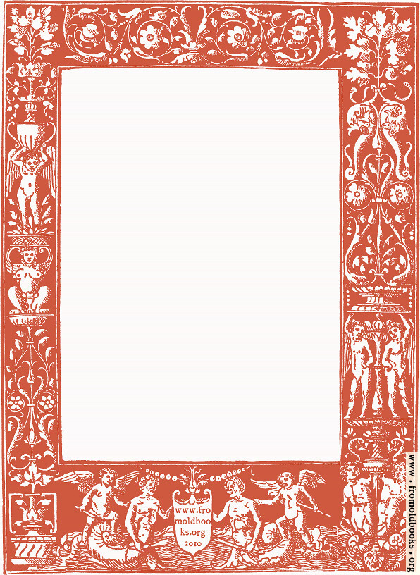 Ornate border from 1878 Title Page (red version)