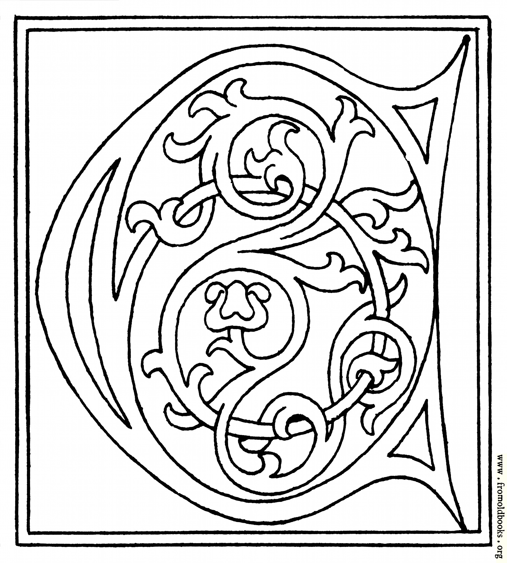 Clipart Initial Letter C From Late 15th Century Printed Book