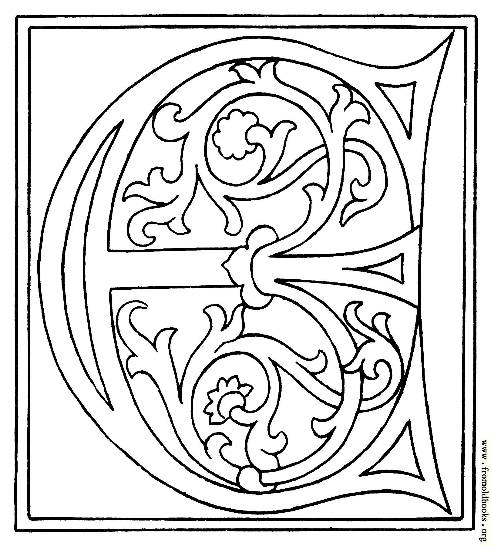 Clipart Initial Letter E From Late 15th Century Printed Book