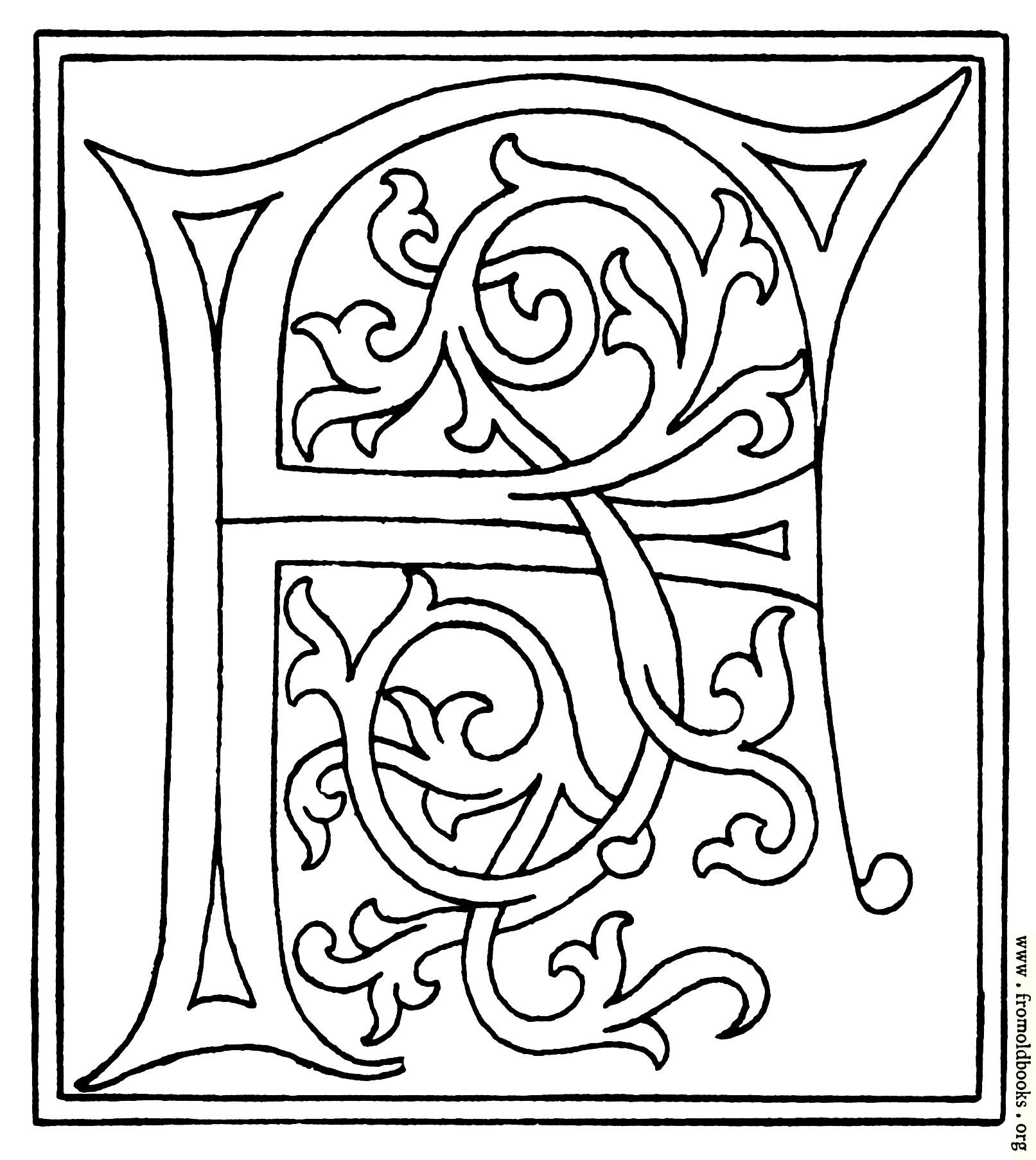 Clipart Initial Letter F From Late 15th Century Printed Book