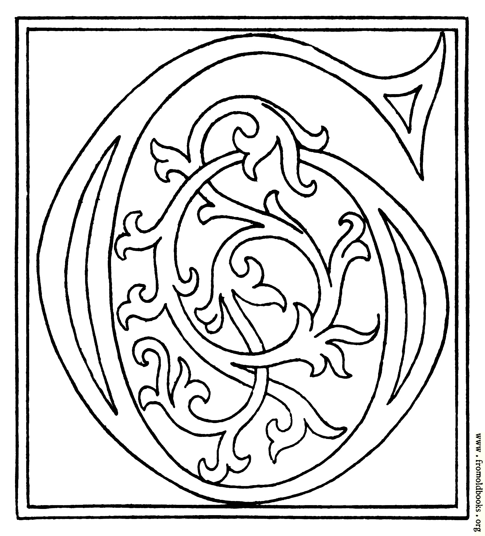 Clipart Initial Letter G From Late 15th Century Printed Book