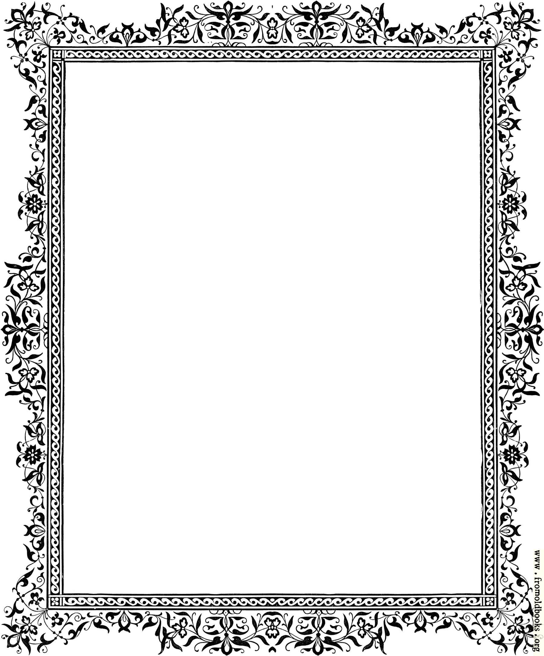 Borders Polka Color And Page Black White Dot