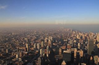 Vue aérienne de Chicago