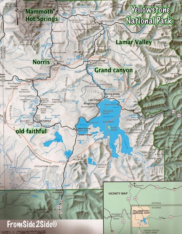 Carte du Yellowstone