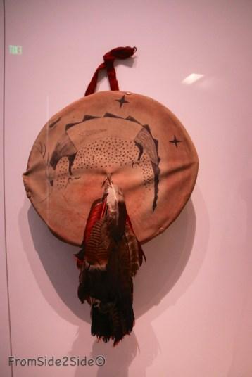 Pawnee Oklahoma 1891-92 inspiré d'une vision, tambourin pour danse