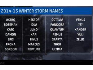 Noms des tempêtes - crédit photo : http://www.weather.com/