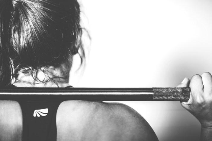 Girl doing weight training