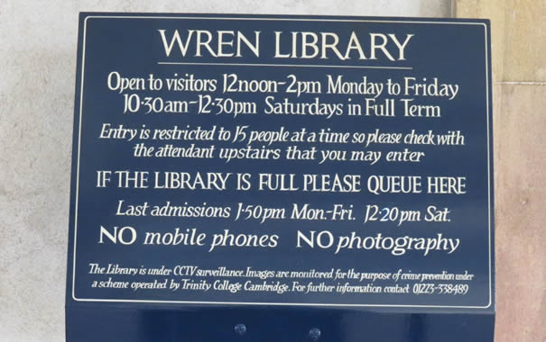 Wren library -  Cambridge