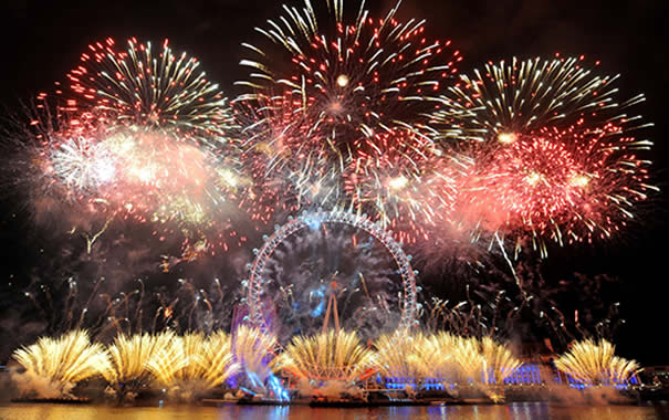 Fuegos artificiales London Eye - Nochevieja