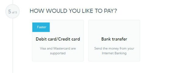 TransferWise - Paso 5