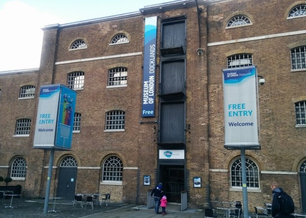 Edificio del Museum of London Docklands, en West India Docks