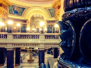 woodwork inside the wisconsin capitol