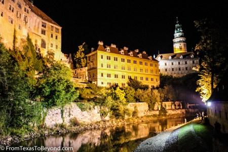 Český Krumlov Castle At Night