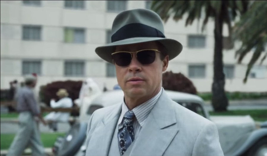 Fedora Hat Brad Pitt in Allied (2016)