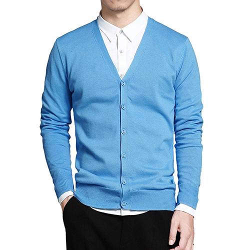 Light blue cardigan sweater Patrick Wilson in A Kind of Murder (2016)