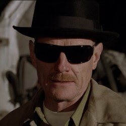 Black hat Walter White (Heisenberg) in Breaking Bad