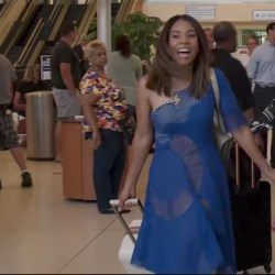 Regina Hall's carry on luggage in Girls Trip (2017)