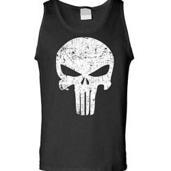 The Punisher Movie Skull Logo Black Tank Top Sleeveless Shirt