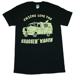 Dumb and Dumber Chicks Love the Shaggin Wagon Black Adult T-shirt