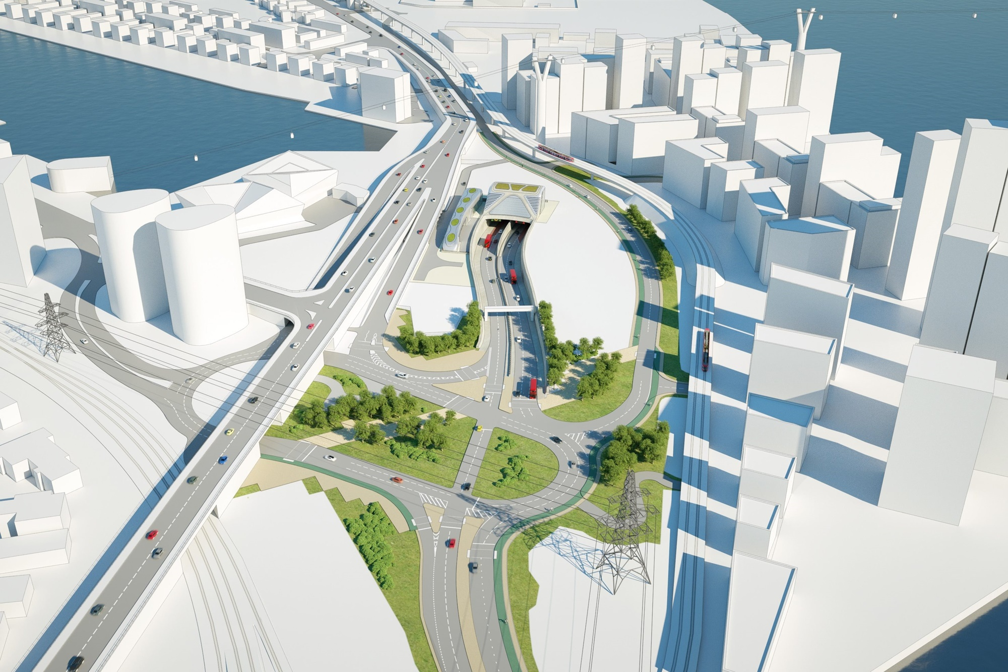 Planned tower near proposed Silvertown tunnel entrance