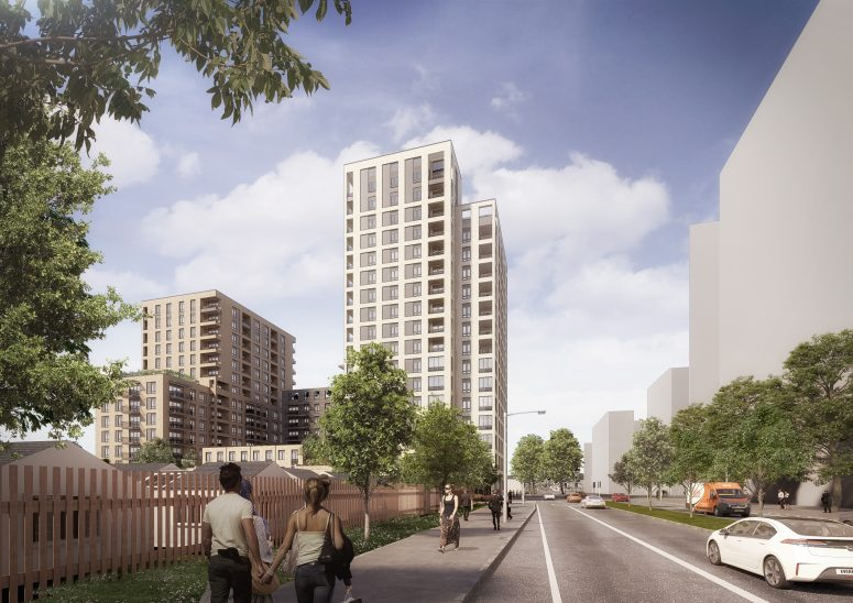 272-home tower plan submitted for Abbey Wood site beside Lidl