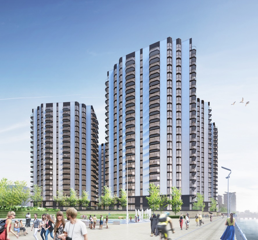 Revised plans for Woolwich Waterfront towers