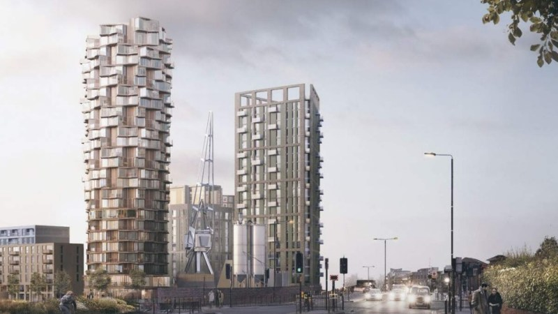 Here's another tower proposal in Greenwich: 26 floors at Ravernsbourne Wharf