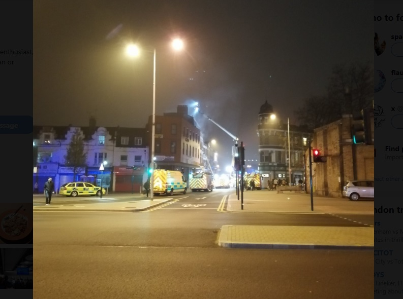 Fire hits Woolwich town centre