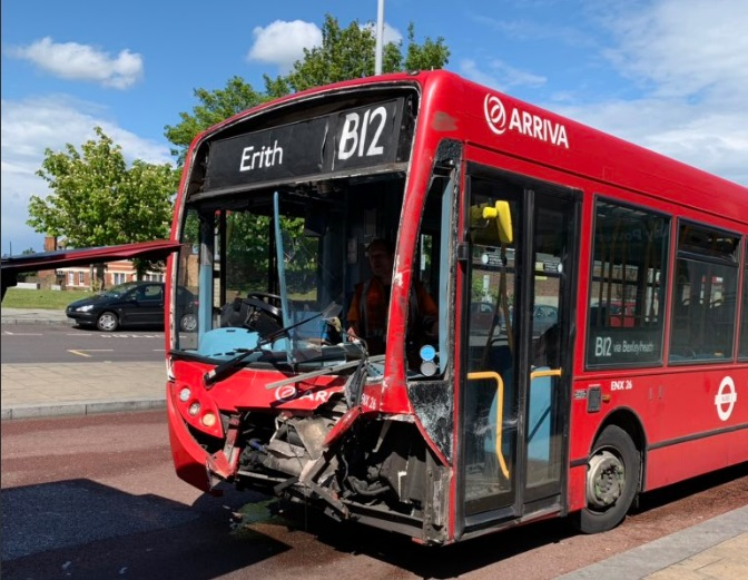 Bus crashes in Erith town centre