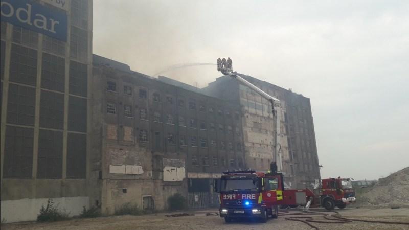 Fire hits Millennium Mills