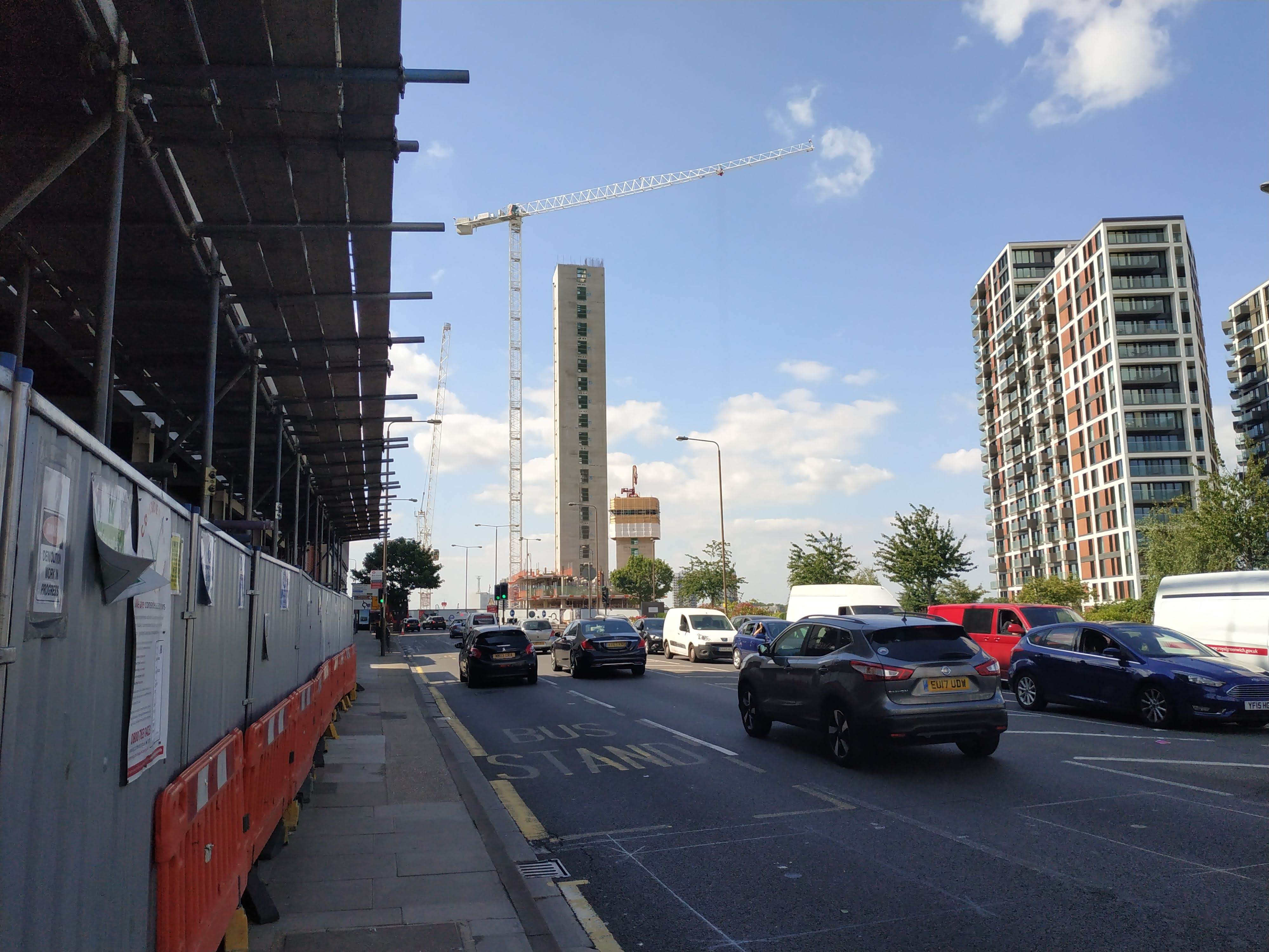 Woolwich's next towers rise on the old Waterfront car park