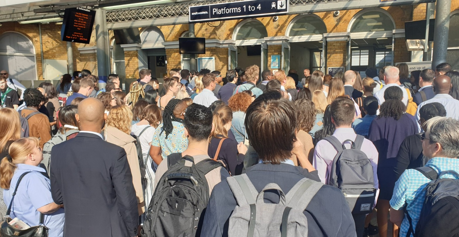Lewisham station's one-way system in for criticism as overcrowding hits