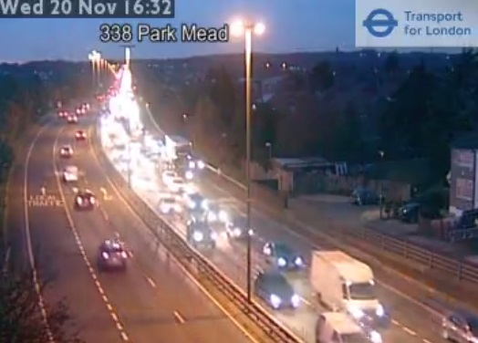 Traffic gridlock hits SE London and Kent tonight