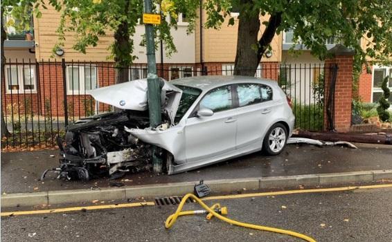 Sidcup man arrested after car crash
