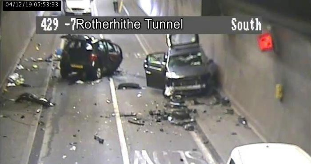 Rotherhithe Tunnel closed after crash