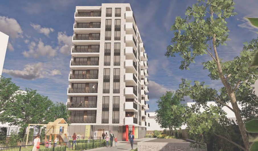 Housing block plan in Catford town centre