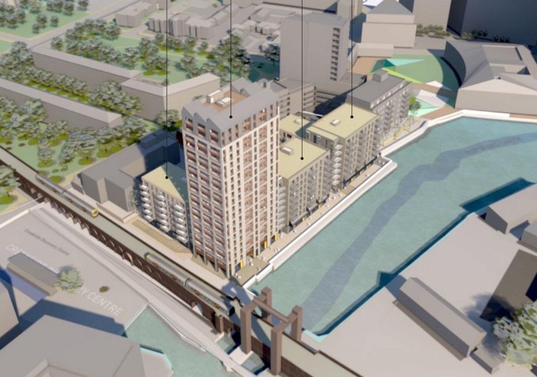 Revised plans for Deptford tower & 250 homes beside Creek