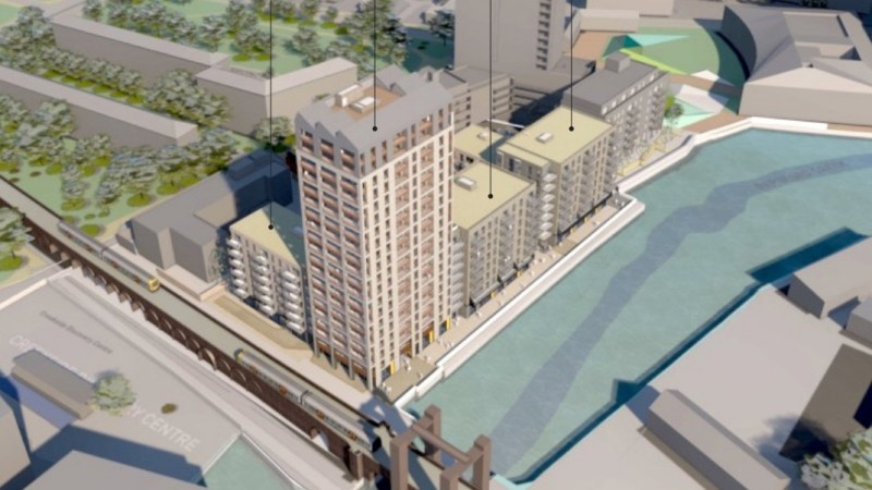 Revised plans for Deptford tower & 250 homes beside Creek