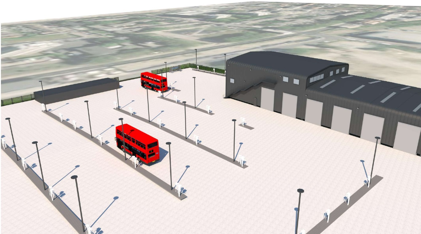 New electric bus garage planned in North Woolwich