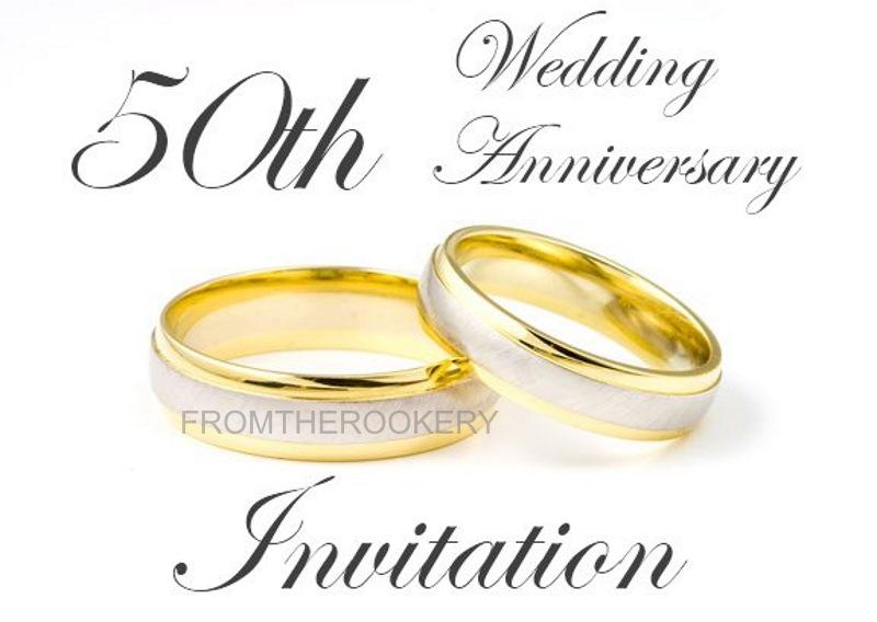 50th Anniversary Invitation Free Printable Wedding Invite Card