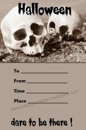 unique halloween invitation free