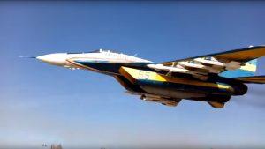 Ukrainian MIG-29 low pass