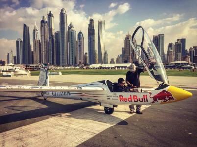 Luca Bertossio in volo su Dubai3