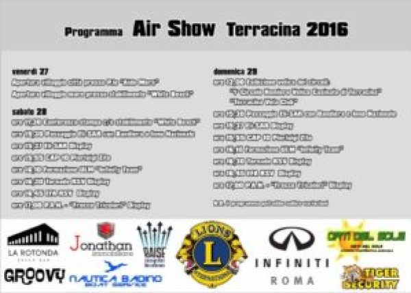 Terracina Air Show 2016 - Programma