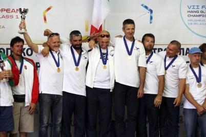 La nazionale deltaplano campione d'Europa